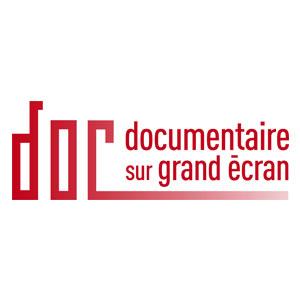 Logo documentaire sur grand écran